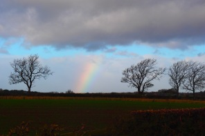 Rainbow on the way to Leeds
