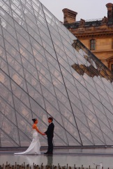Wedding outside The Louvre